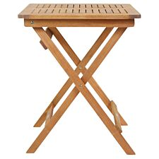 Charles Bentley FSC Wooden Square Foldable Patio Table