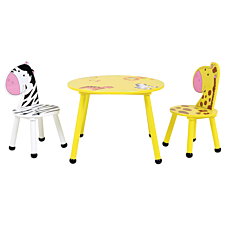 Charles Bentley Kids Jungle Safari Table and 2 Chairs