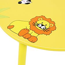 Charles Bentley Kids Jungle Safari Table and 4 Chairs
