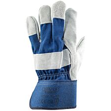 Draper Heavy Duty Large Leather Gardening Gloves - Blue