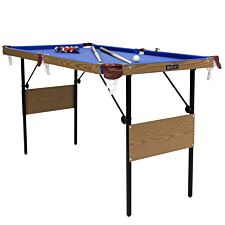 Charles Bentley 4ft 6 Inch Blue Pool Games Table