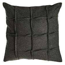 Premier Housewares Hampstead Felt Square Cushion - Dark Grey