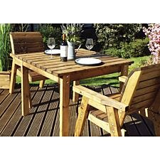 Charles Taylor Two Seater Wooden Dining Table Set