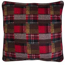 Premier Housewares Large Heritage Cushion - Red Checkered