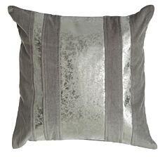 Premier Housewares Kensington Townhouse Crushed Leather Cushion - Dark Grey