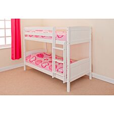 Kensington Single Bunk Bed - White