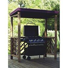 Charles Taylor Dorchester Wooden BBQ Shelter - Burgundy