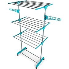 Beldray Deluxe 3-Tier Clothes Airer - Turquoise