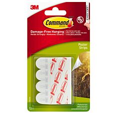 3M Command Small Poster Strips - 12 Pack