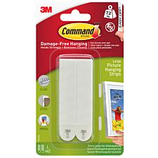 3M Command Large Picture Hanging Strips - 4 Pack