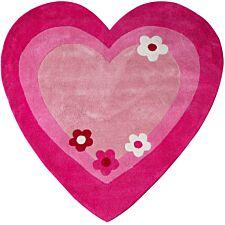 Premier Housewares Cotton Heart Rug