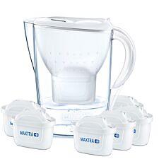 BRITA Marella Water Filter Jug 6 Month Pack - 2.4L White