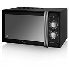 Swan Retro 900W 25L Manual Solo Microwave - Black