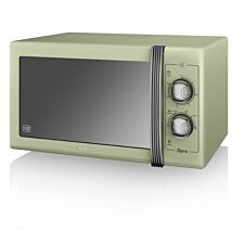 Swan SM22070GN Retro 900W Manual 25L Solo Microwave – Green