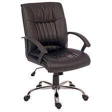 Teknik Milan Executive Chair with Stylish Five-Star Chrome Base