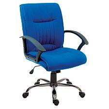 Teknik Milan Blue Fabric Executive Chair