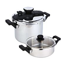 Prestige 47288 6L Pressure Cooker Set - Stainless Steel