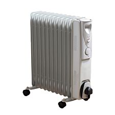 Robert Dyas 2.5kW Oil Heater - White