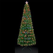 2.7ft Premier Decorations Ltd Slim Star Christmas Tree with Colour Changing LEDs