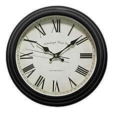 Ridged Wall Clock - Black