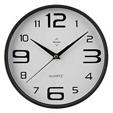 Plastic Wall Clock – Black and White