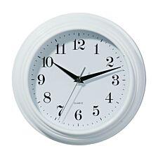 Vintage Plastic Wall Clock - White