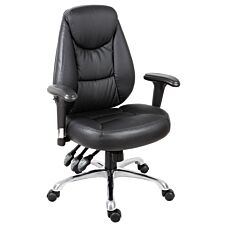 Teknik Portland Luxury Operator Chair in Supple Faux Leather