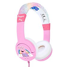 OTL Peppa Pig Glitter Rainbow Peppa Pink Kids Headphones