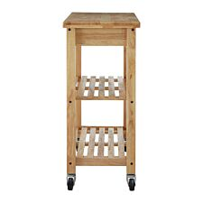 Premier Housewares Hevea Wood Kitchen Trolley