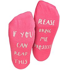 "Flo Socks ""Bring me Prosecco"" - Pink"