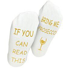 """Flo Socks """"Bring Me Prosecco"""" - White"""