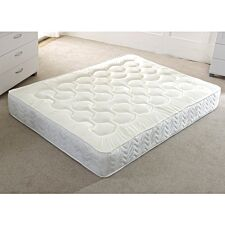 Comfy Deluxe Quilted Memory Orthopedic Mattress Dual Sided- White