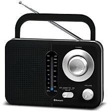 Soundz BT USB SD AC/DC Portable Radio with Bluetooth - Black