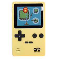 Thumbs Up Retro Handheld Console with 150 Games - Yellow/Black