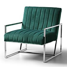 Rina Chair Velvet Jasper Stainless Steel Legs