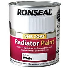 Ronseal 750ml One Coat Radiator Paint - Brilliant White