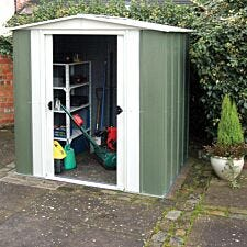 Rowlinson Greenvale 6ft x 5ft Metal Apex Garden Shed
