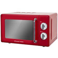 Russell Hobbs RHRETMM705R 700W 17L Retro Manual Microwave - Red