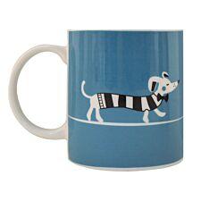 Scandi Stripy Dog Mug