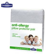 Charles Bentley Downland Pair of 100% Cotton Anti-Allergy Pillow Protectors
