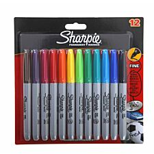 Sharpie Permanent Markers – Pack of 12