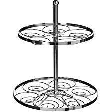 Premier Housewares 2 Tier Cake Stand - Silver