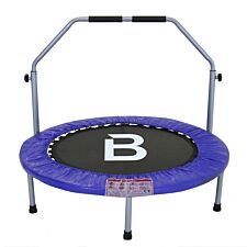 "Charles Bentley 40"" Folding Mini Fitness Trampoline with Handle - Blue"