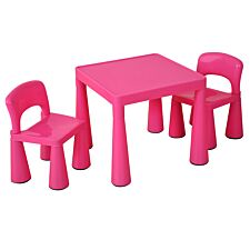 Liberty House Toys Childrens Pink Table & 2 Chairs Set
