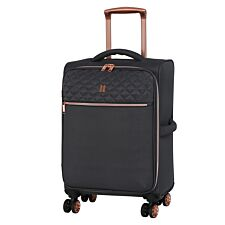 It Luggage Divinity 8-Wheel Semi Expander Cabin Case with TSA lock - Magnet Grey