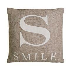 Premier Housewares 'Smile' Cushion - Natural