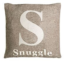 Premier Housewares 'Snuggle' Cushion - Natural