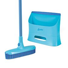 Spontex Catch & Clean Rubber Broom and Dustpan