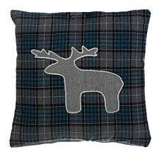 Premier Housewares Large Cushion Stag - Blue