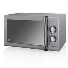 Swan Retro 900W 25L Manual Solo Microwave - Grey